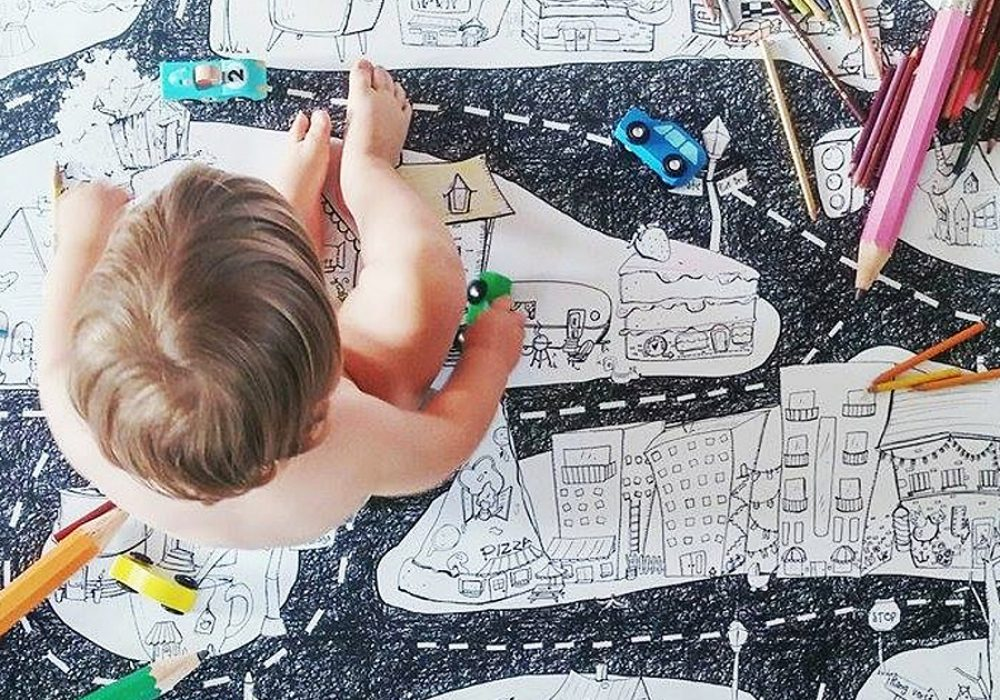Atelier Rue Tabaga Giant Coloring Poster Gift for Toddlers
