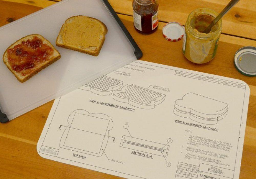 Awkward Engineer Engineering Blueprint Placemat Set Cool Dining Mats