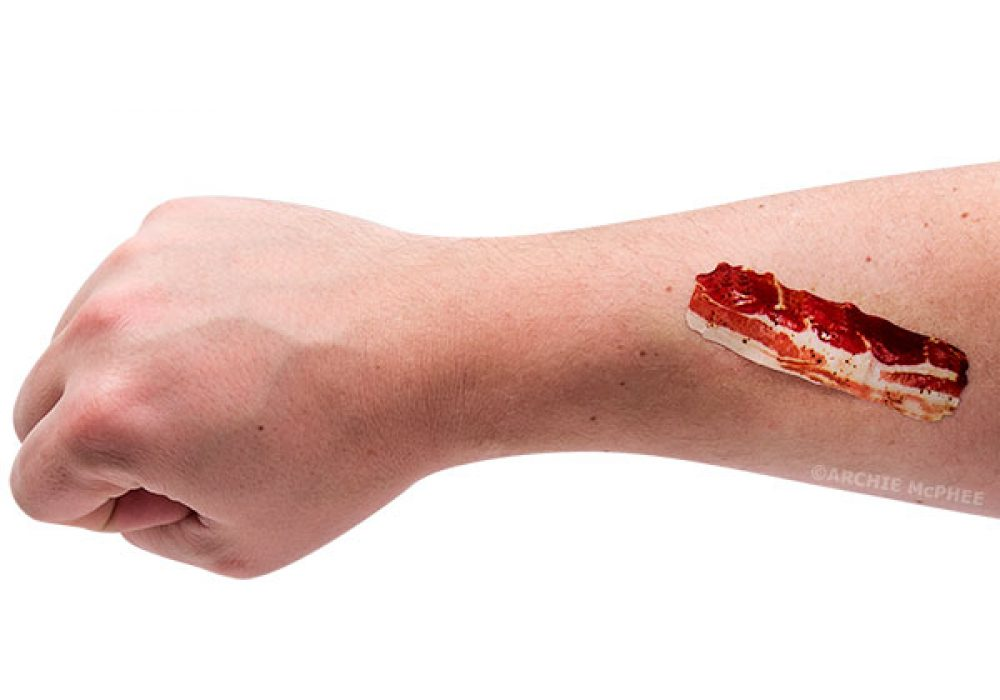 Bacon Strips Adhesive Bandage2