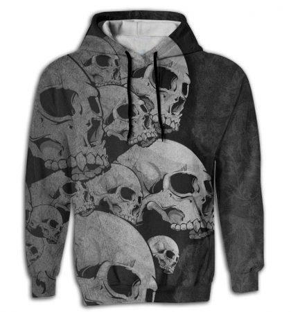 Men Hoodies Big Skull Design