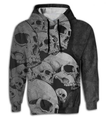 Men Hoodies Big Skull Design