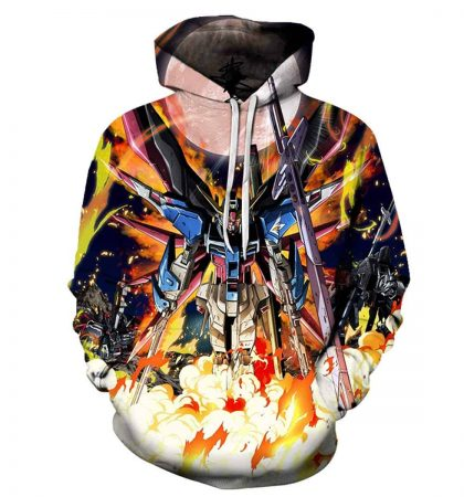 Men Hoodies & Sweatshirt CHENMA Men Cosplay Gundam 3D Print Pullover