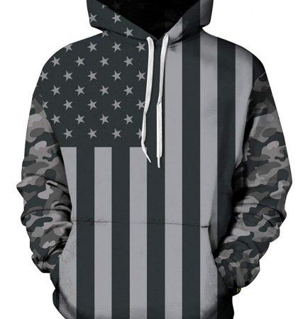 Men Hoodies & Sweatshirts Dark US Flag