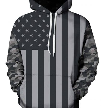Men Hoodies & Sweatshirts Dark US Flag