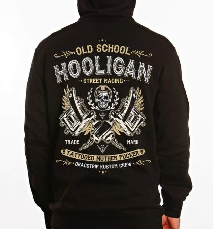 Men Hoodies Dragstrip Clothing Hooligan Life Hooded Top Biker