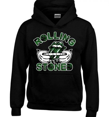 Men Hoodies Rolling Stoned Weed Pattern