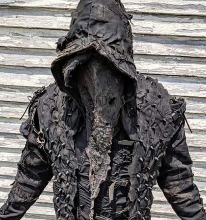 Badass Hoodie The Executioner Post Apocalyptic Black metal Ritual Costume