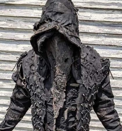 Men Hoodies The Executioner Post Apocalyptic Black metal Ritual Costume