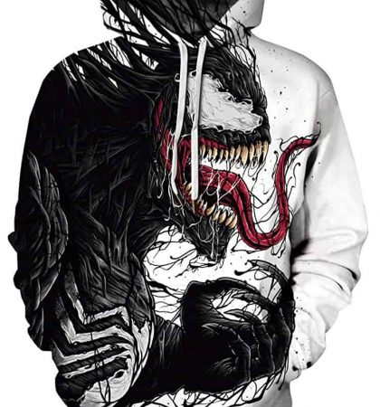 Men Hoodies Marvel Venom