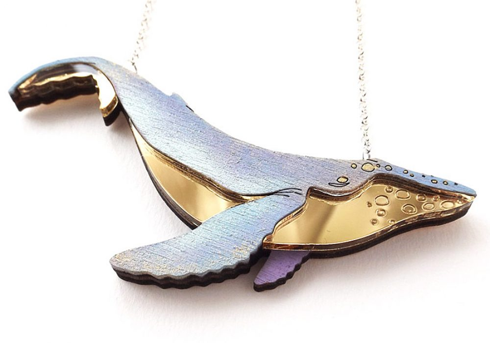 Baku Forest Studios Humpback Whale Necklace Jewelry for Women