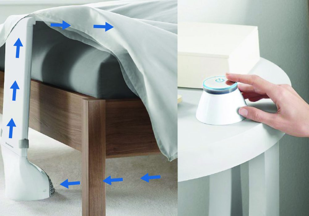 Bed Fan By Brookstone with wireless Remote Control Sleep Comfortably