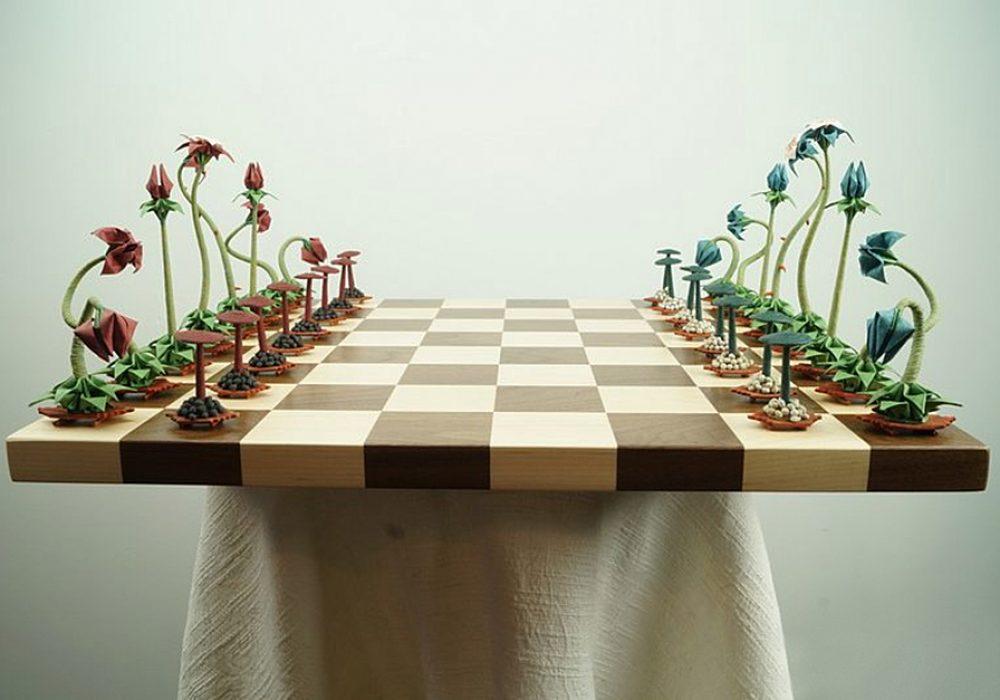 Benagami Origami Bonsai Chess Set Board Game
