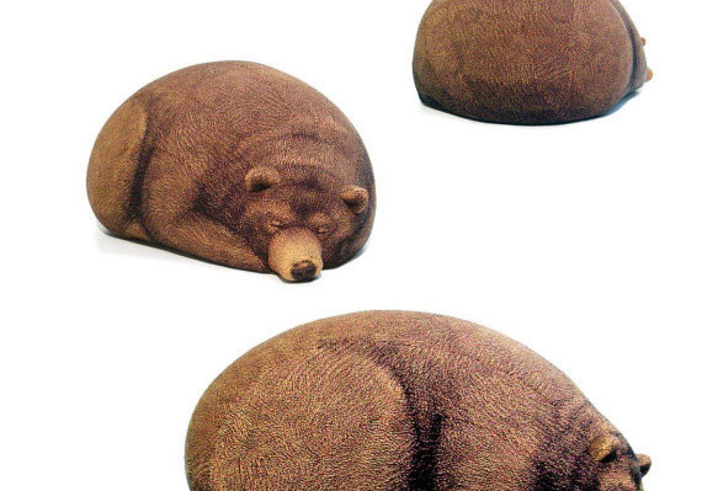 Big Sleeping Grizzly Bear Bean Bag Interesting Gift Idea