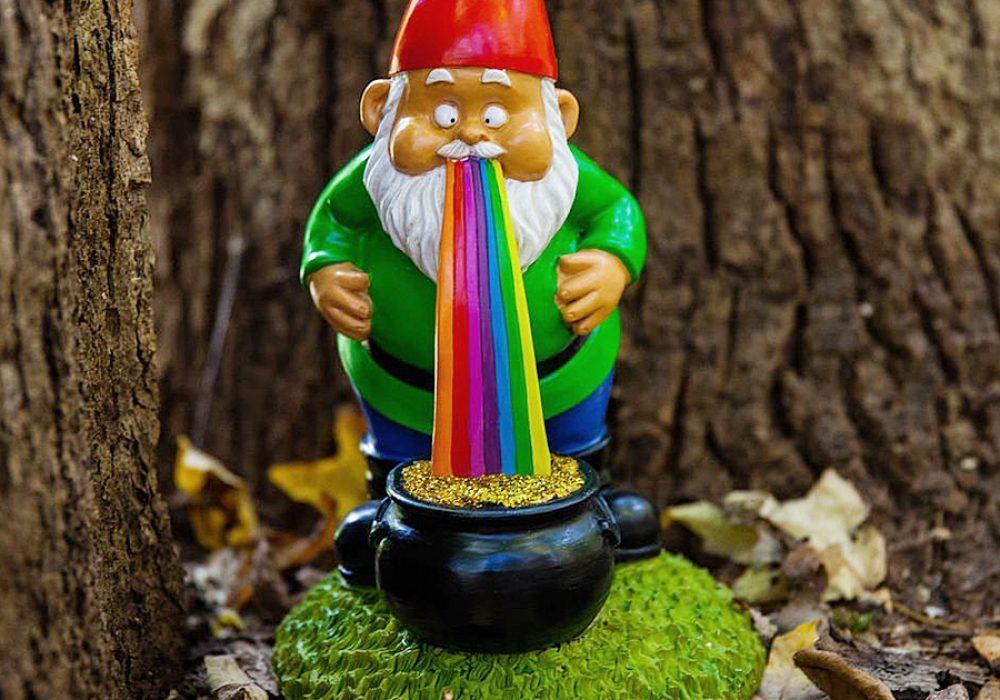 BigMouth Inc Lucky Rainbow Garden Gnome Garden Decoration