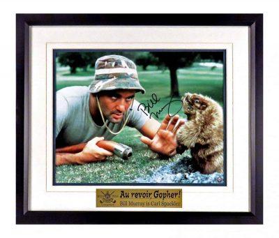 Bill Murray Autographed Caddyshack Colored Photograph Au Revoir Gopher Cool Memorabilia