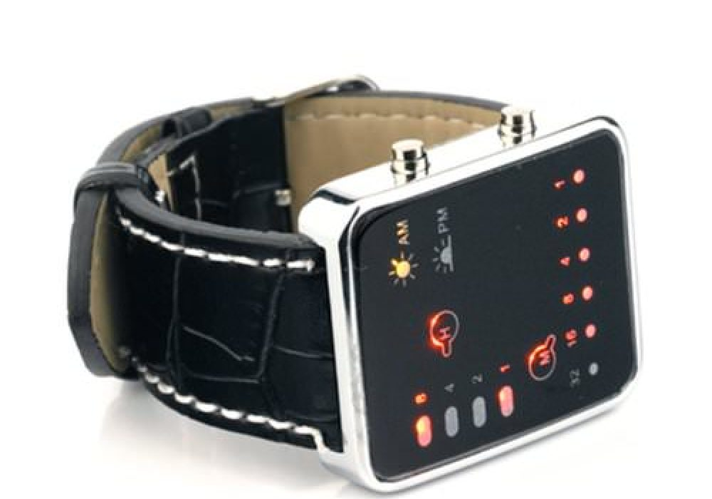 Binary Code Digital Display LED Watch Buy Retro Accessory