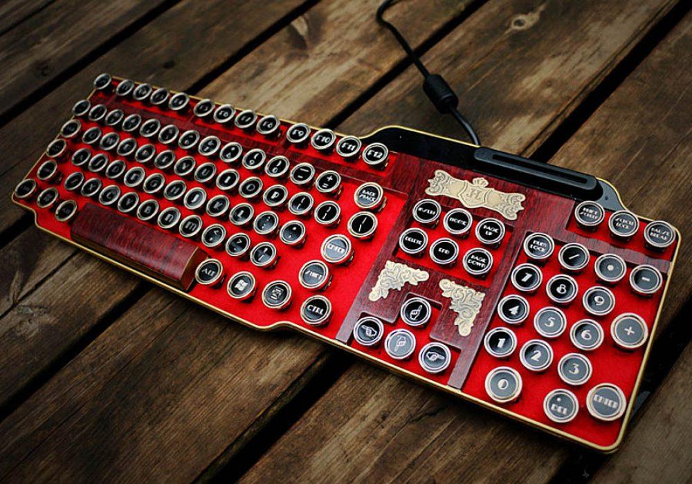 bing-hand-craft-red-steampunk-keyboard-computer-accessories