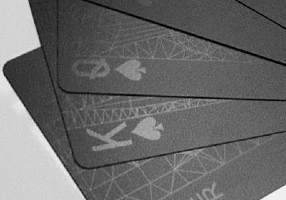 Black Playing Cards Set Fan