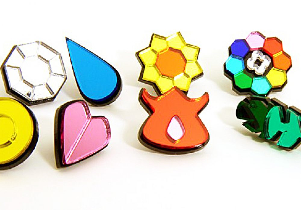Blazer Designs Kanto Pokemon Gym Badges Cute Tiny Accessories