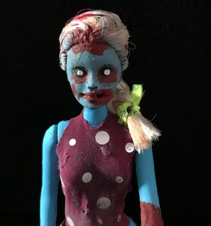 Blue Skinned Barbie Walker