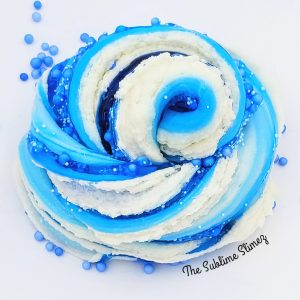 Blueberry Cheesecake Layered Slime