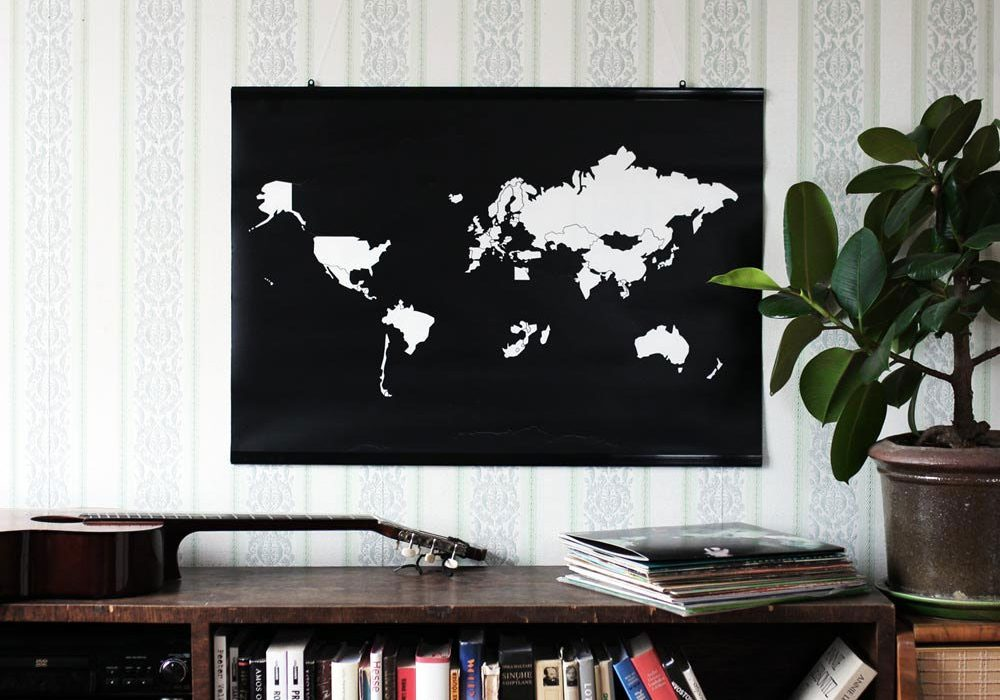 Bold Tuesday Go World Sticker Poster Map Gift for Travelers