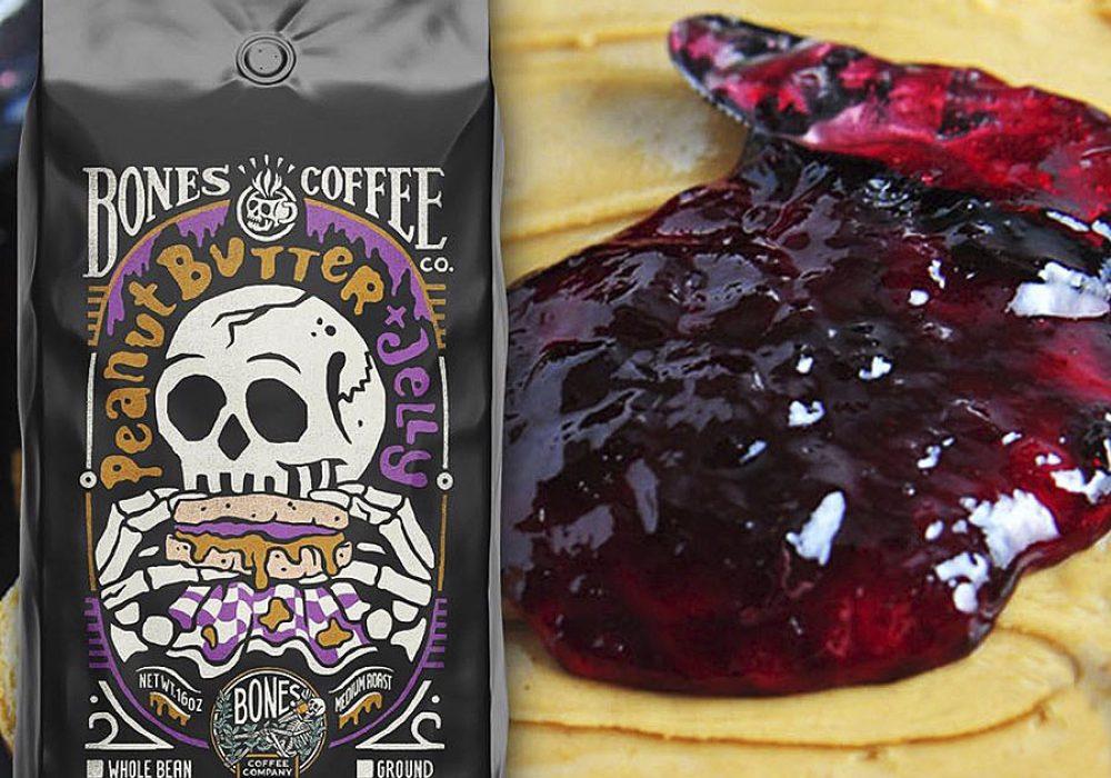 Bones Coffee Company Peanut Butter & Jelly Coffee Arabica Coffee