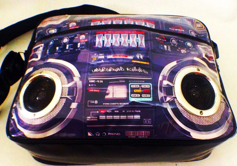 Boom Box Speaker Bag Listen to Music on Travel