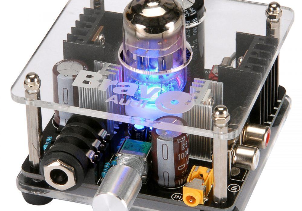 Bravo Audio V2 Class A 12AU7 Tube Multi-Hybrid Headphone Amplifier Listen to Better Music
