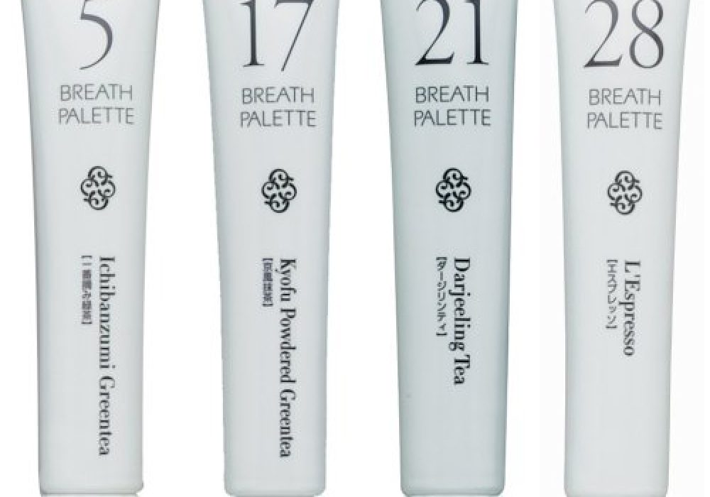 Breath Palette Toothpaste Green Tea and Coffee Flavors