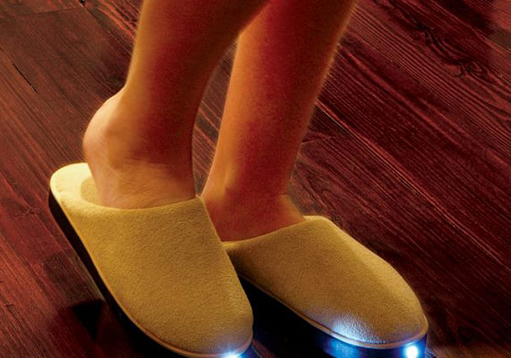 Bright Feet Lighted Slippers Cool Novelty Item