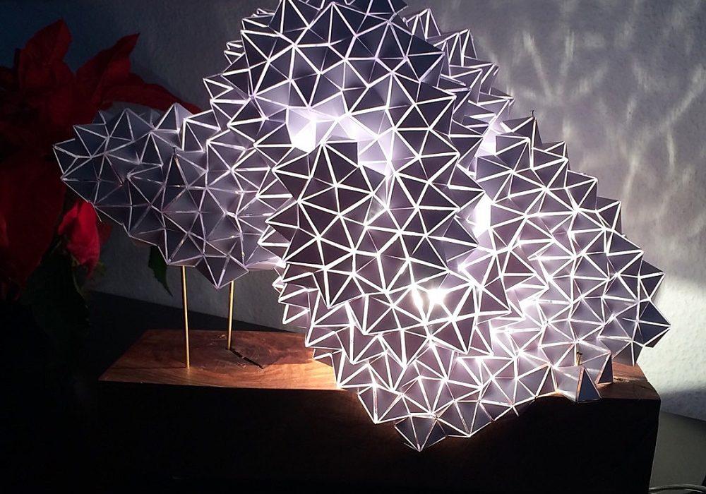 Britta Gould Geodesic Table Light Sculpture Cool Lamp Design
