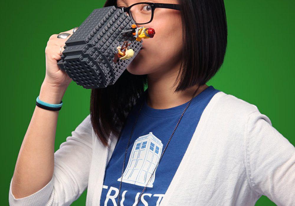 Build-On Brick Mug Drink on Lego