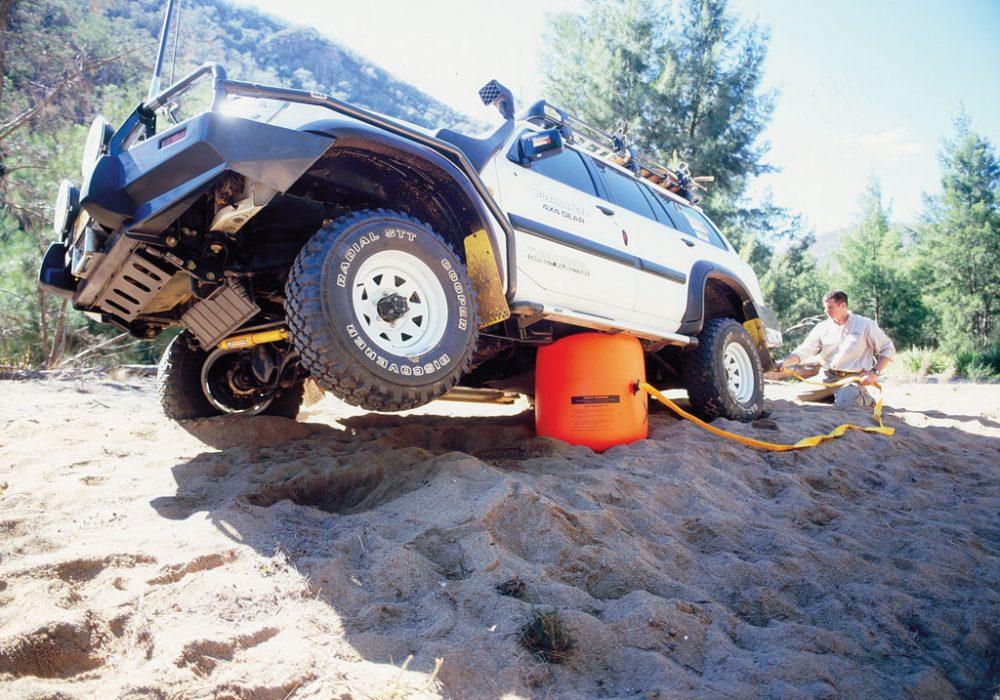 Bushranger X-Jack Arb Recovery Gear 4x4 Stuck on Sand