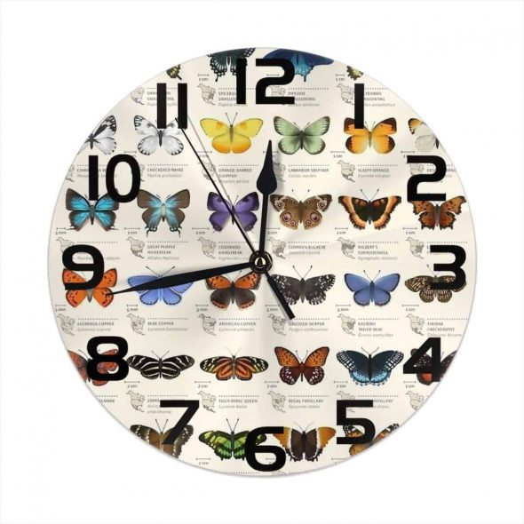Butterflies of North America Wall Clock