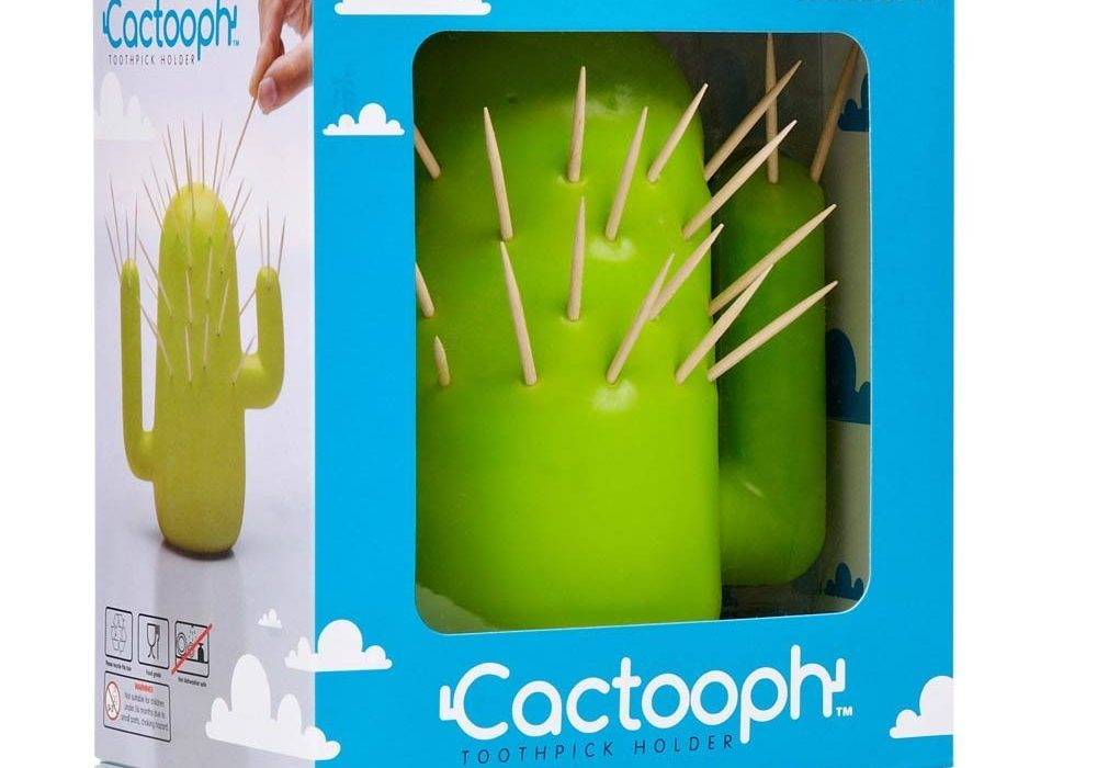Cactooph Toothpick Holder Cactus in a Box