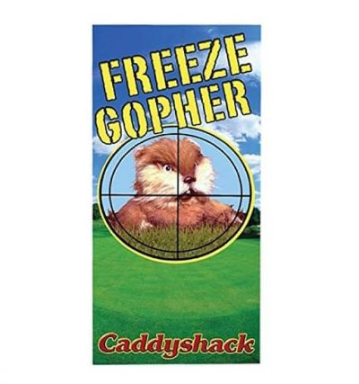 Caddyshack Freeze Gopher Novelty Beach Towel