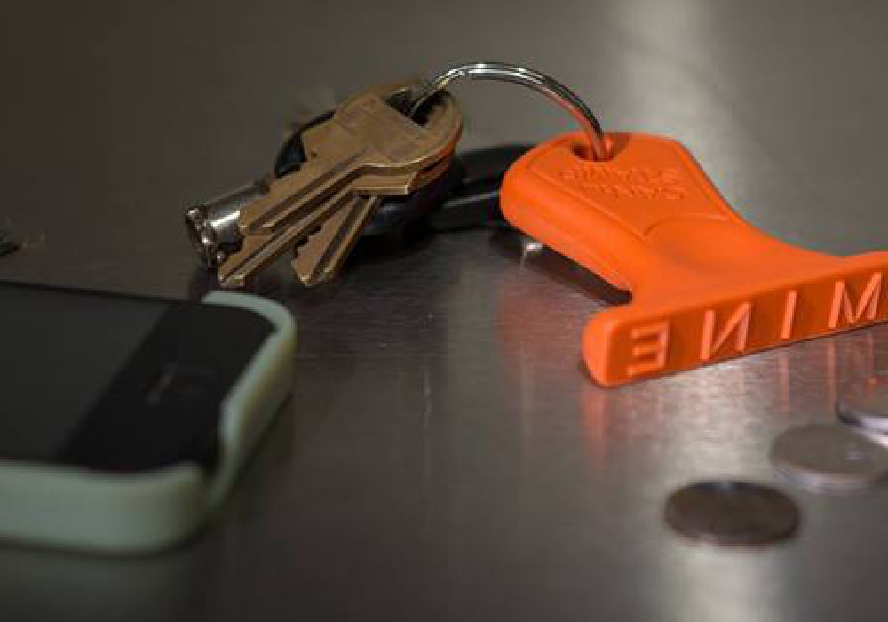 Can Stamp Key Chain Cool Gift Idea for Dad