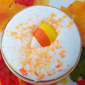 Candy Corn Crunch Floam Scented Halloween Slime