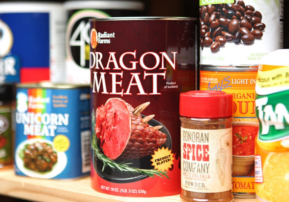 Canned Dragon Meat Product of Scotland Geek Diet
