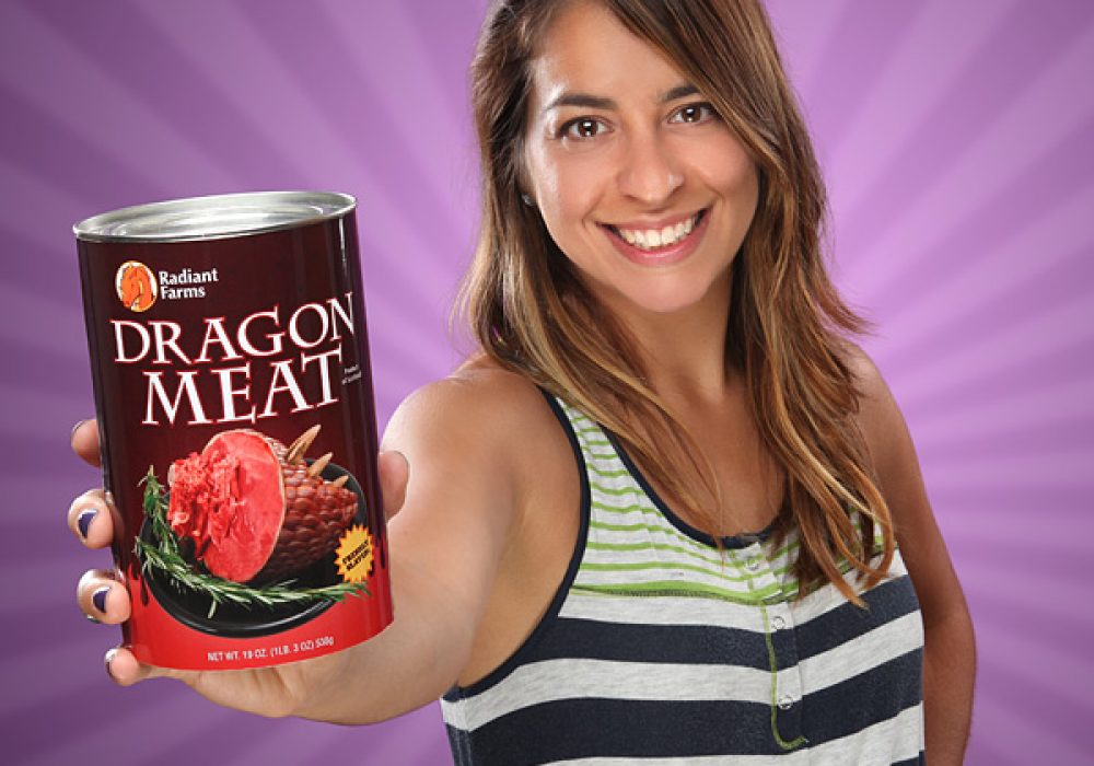 Canned Dragon Meat Satisfied Customer Novelty Item