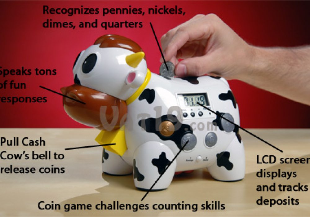 Cash Cow Electronic Talking Bank and Game Product Feature Cool Gift For Kids