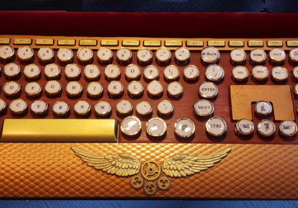 Cave 76 Designs SteamBoard Wireless Keyboard Industrial Theme