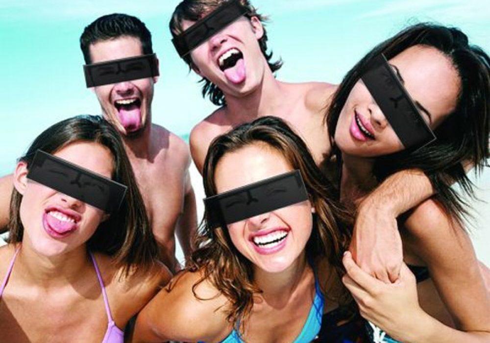 Censor Bar Sunglasses Beach Party