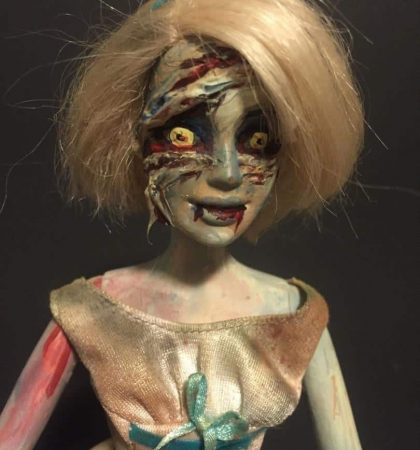 Chained Horror Zombie Barbie