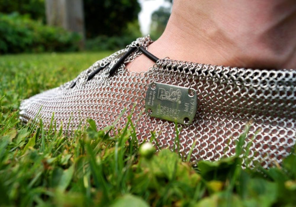 Chainmail Barefoot Shoes Pronativ Metal Logo Unique Fashion