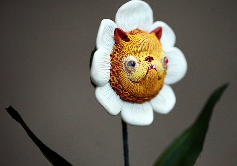 Chercheto Kitty Flower Cool Novelty Item