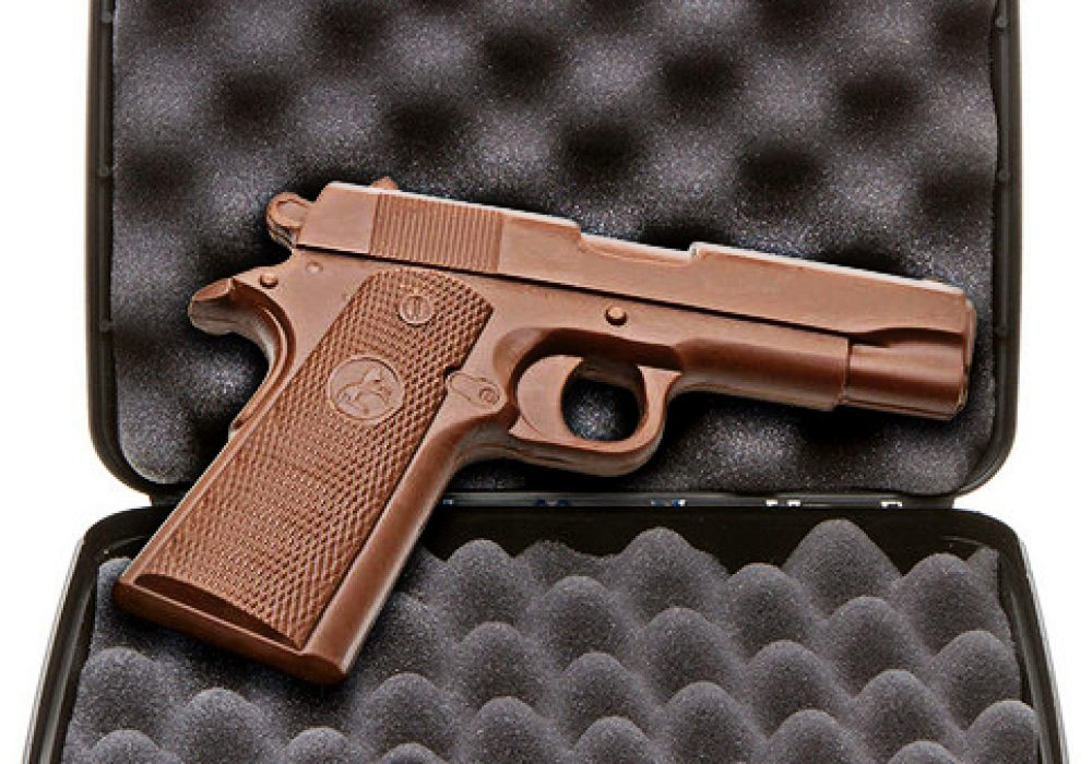 Chocolate Weapons Solid Milk Chocolate 1911 Handgun Professional Killing Candy