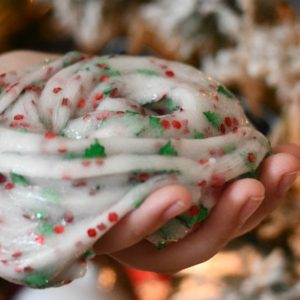 Christmas White Green Red Slime