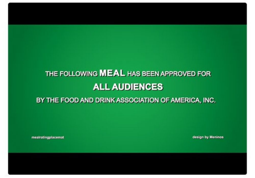 Cinema Placemats All Audience Green